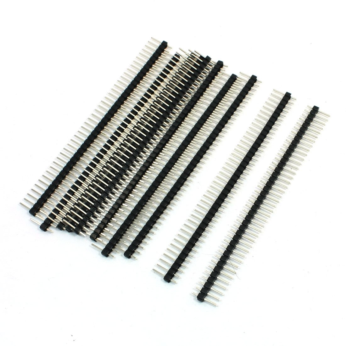 1x40 Pins Male 2.54 mm Pitch Single Row Pin Header Strip 10 Pcs