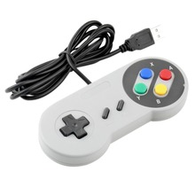 New Retro Classic USB Controller PC Controllers Gamepad Joypad Joystick Replacement for Super Nintendo SF for SNES Windows MAC
