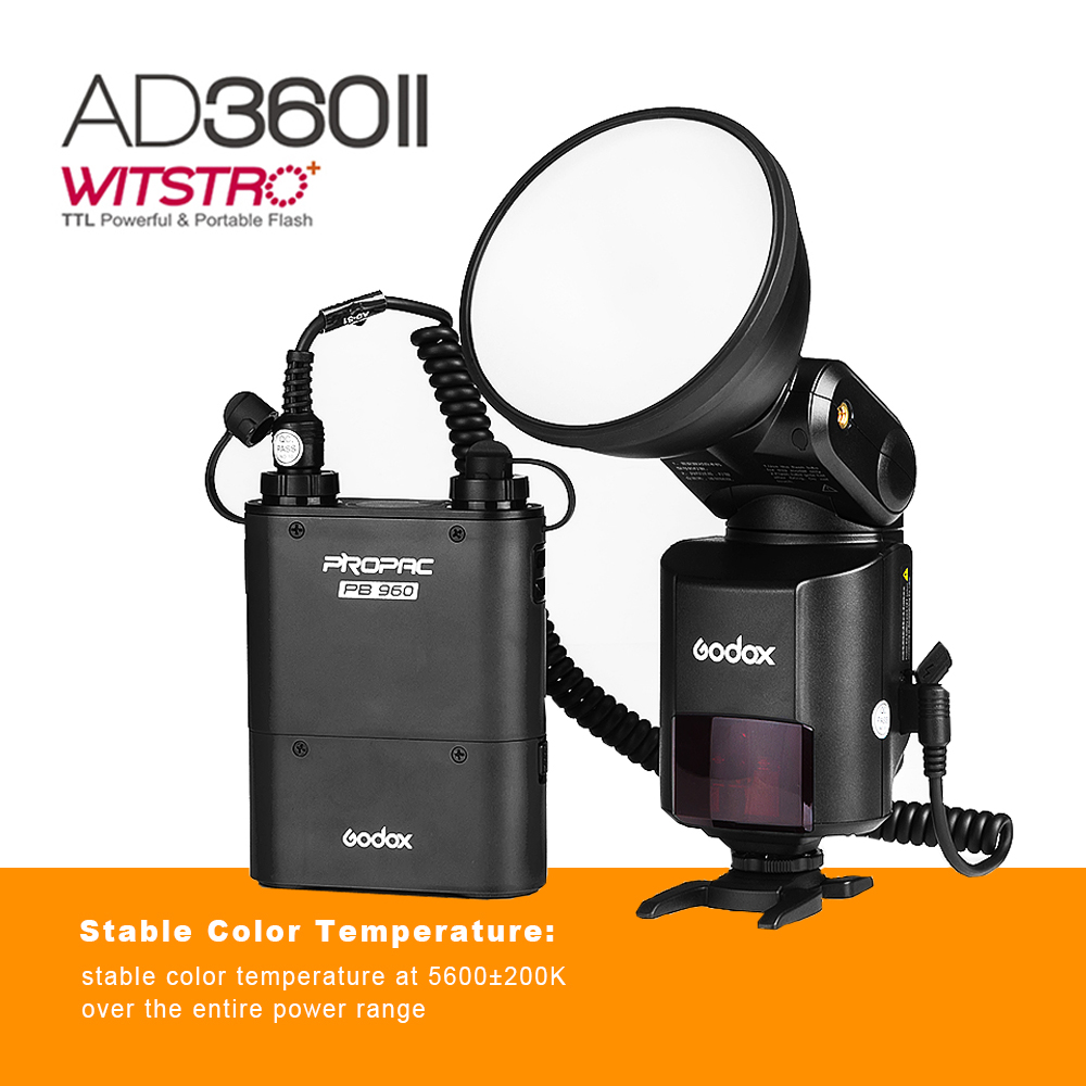Godox Witstro AD360 II AD360II-C TTL On/Off-Camera Flash Speedlite+Built-in Godox 2.4G Wireless X System for Canon DSLR Cameras meike dslr camera built in 2 4g battery grip for canon eos 7d mark ii as bg e16
