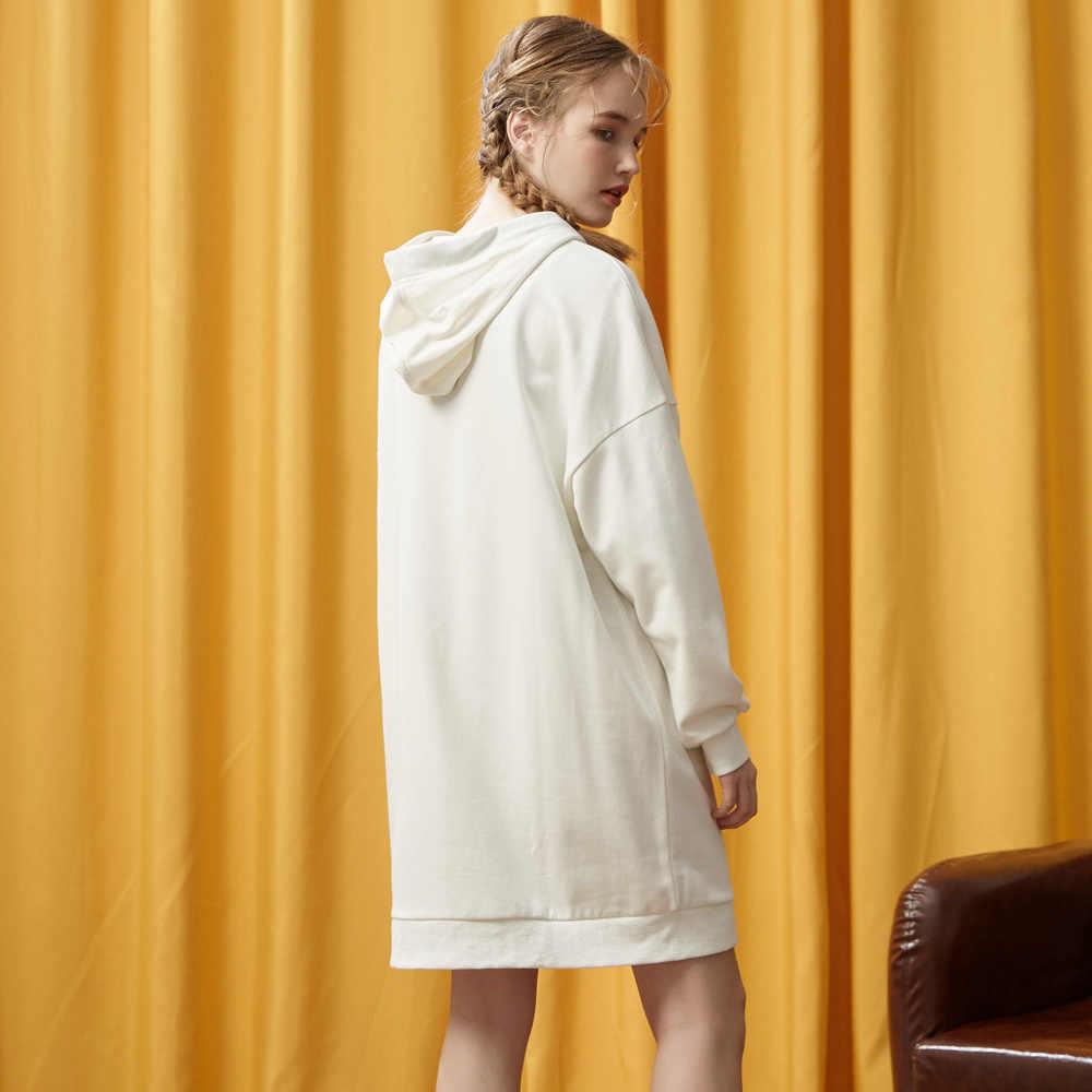 Metersbonwe 브랜드 숙녀 '드레스 새로운 봄 세련된 수 놓은 패션 위생 드레스 느슨한