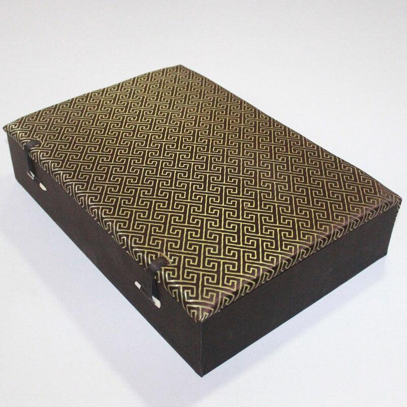 Luxe grand 10 grille bois montre boîte fentes boîte de rangement souple haut de gamme soie brocart pierre artisanat hommes bijoux boîte cadeau de noël