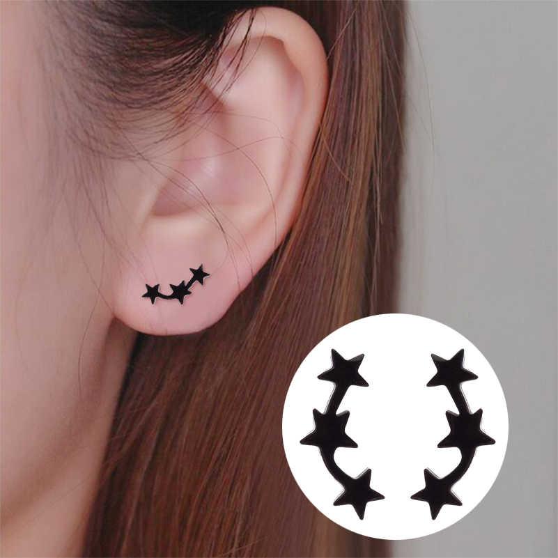 Shuangshuo ดาวขนาดเล็กต่างหูสตั๊ดต่างหูผู้หญิงต่างหู oorbellen สแตนเลสเครื่องประดับเกาหลีต่างหู pendientes
