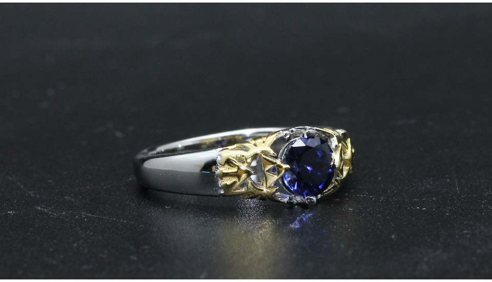 GZR0022-925S 0.8ct blue stone 2-tone gold (8)