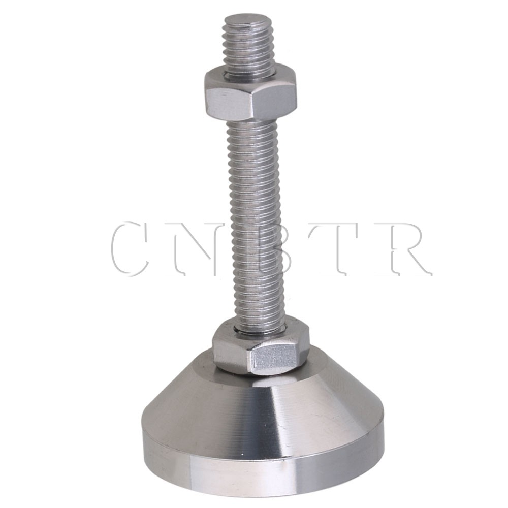 CNBTR 4cm Dia Stainless Steel Adjustable Furniture Glides Joint Feet M8 Thread