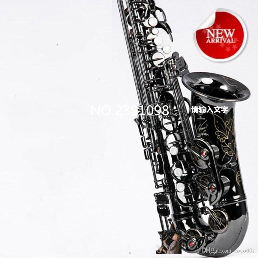 2018 Nouveau qualité supérieure Saxophone France R54 E-plat Alto saxophone instruments de musique Noir Alto Sax & case promotion