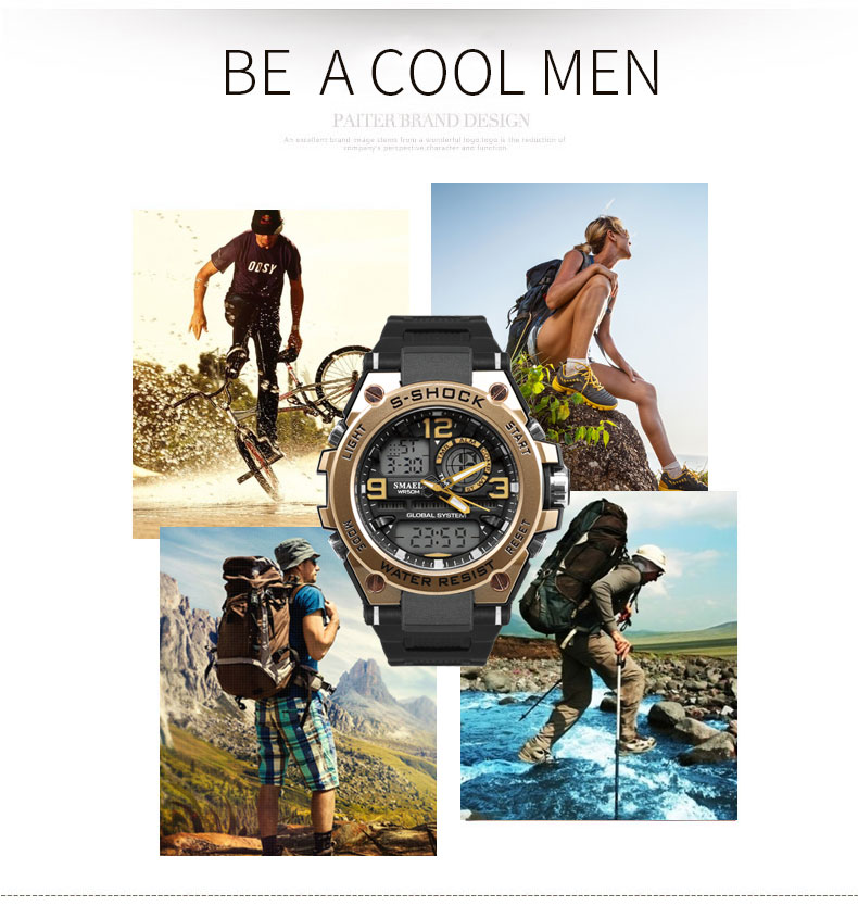9.digital watch man
