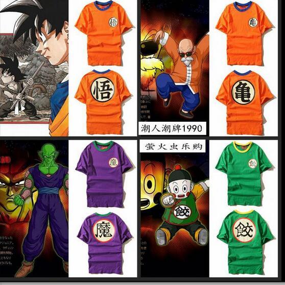 fc298a985 Camiseta Anime Dragon Ball Z DBZ Goku kame Kanji Saiyan cosplay tshirt dos  homens tee em Fantasias Cosplay Femininas de Novidade   Uso Especial no ...