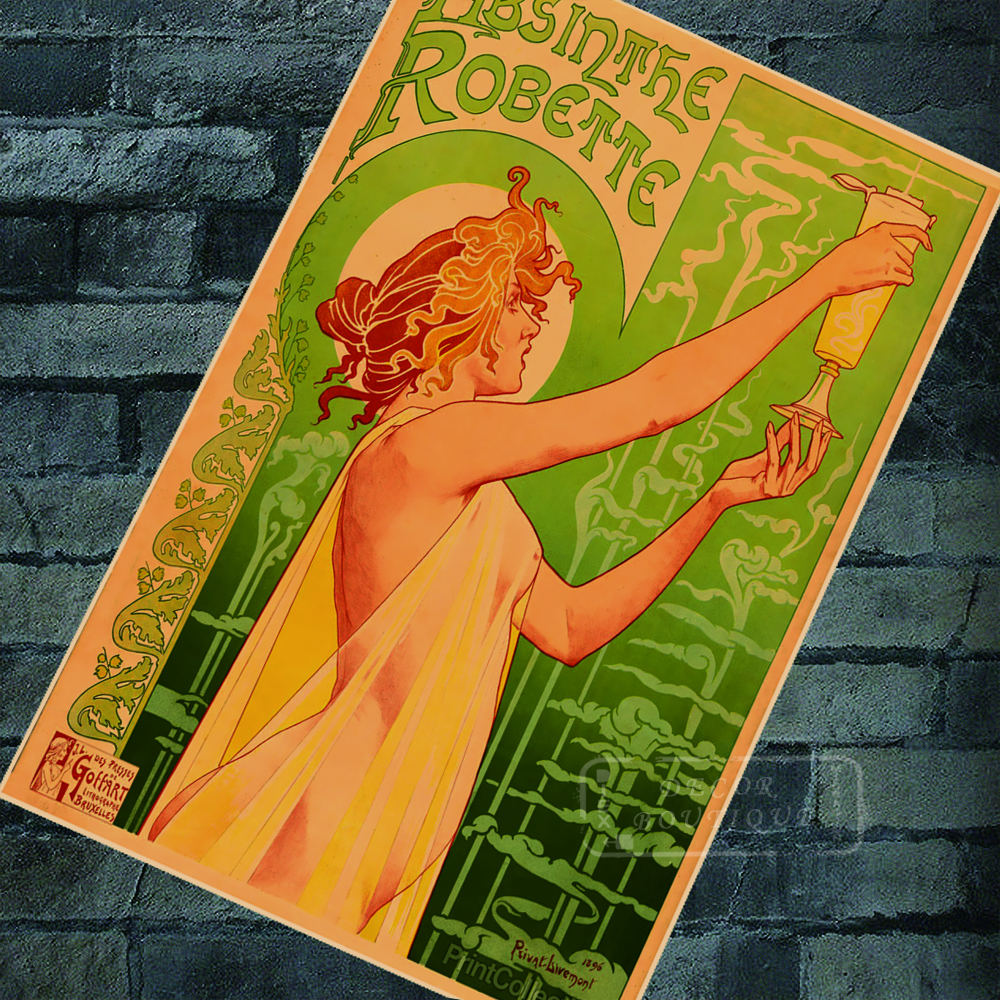 Retro Advertising Posters Absinthe Robette Ads Classic ...