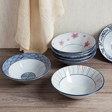 Ceramic big soup  rice bowl microwave oven bowl household tableware salad ceramic noodle bowl