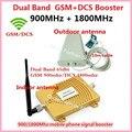Mejor Precio!!! GSM DCS 1800 MHz GSM 900 Mhz Amplificador de Señal de Teléfono Celular de Banda Dual GSM 900 1800 4G Repetidor de Señal amplificador Conjunto Completo