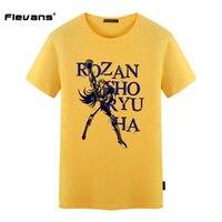Flevans new arrival w saint seiya shiryu omega t-shirty dla mężczyzn Rozan Sho Ryu Ha Drukowane T Shirt Mens Fajne Moda Tees T-shirt