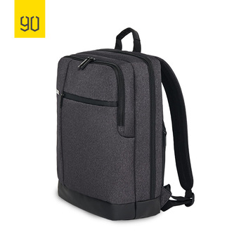 90FUN Classic Business Backpack Large Capacity Students Bag Suitable for 15inch Laptop, Dark Grey Light Grey Blue laptop bag