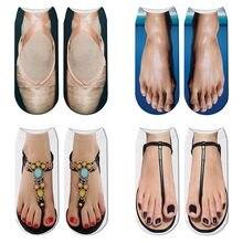 5c5aab5e3d7c5b New Funny 3d Print Rainbow Ballet Shoes Socks Cute Women Slippers Socks Flip  Flop Toe Mujer Fashion Cartoon Sox