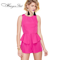 Europe Early Autumn New Diamond Waist Sleeveless Halter Flounce Jumpsuit Jumpsuit