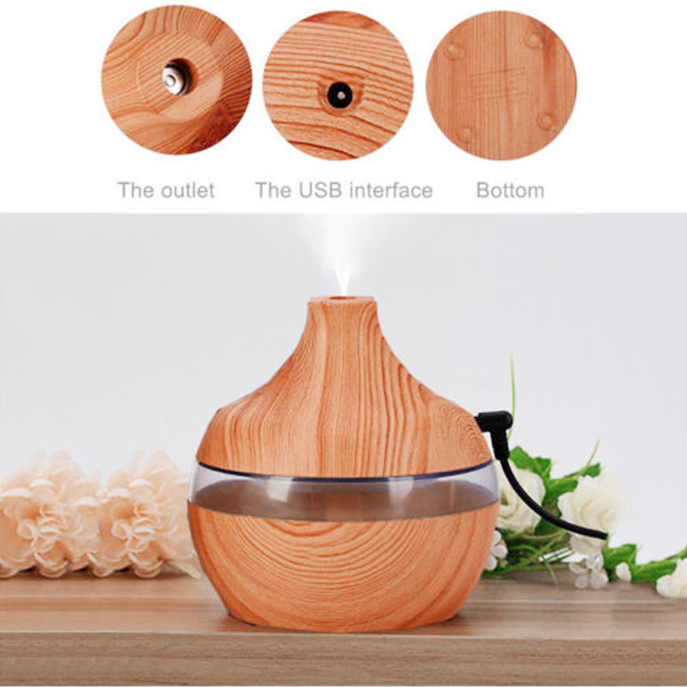 LED Licht Aroma Luftbefeuchter Ätherisches Öl Diffusor Aroma Lampe Aromatherapie Elektrische Aroma Diffuser Nebel-hersteller für Home-Holz