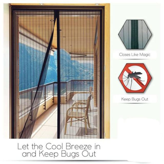 Fly Mosquito Window Net Mesh Curtains Door Screen Mosquito Curtains Net  Protector Fly Screen Inset D