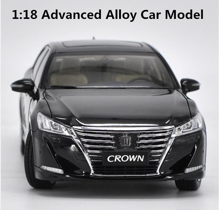 Оригинал 1:18 усовершенствованная модель автомобиля из сплава, высокая имитация 2016 Тойота Корона, металлическая модель, изысканная коллекци