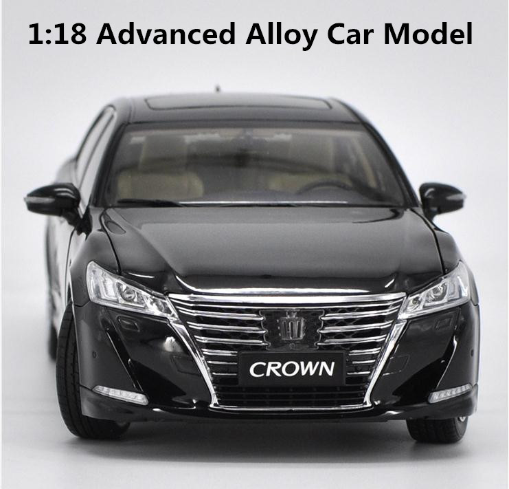 Original 1:18 advanced alloy car model, high simulation 2016 TOYOTA CROWN, metal model, exquisite collection of toy vehicles