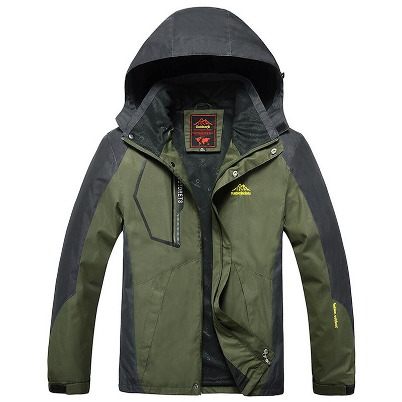 Jacket Men Outwear Waterproof Windbreaker Hooded Jackets Mens Sportswear Coat Outwear Military Tactical Coats Plus Size 8XL 9XL