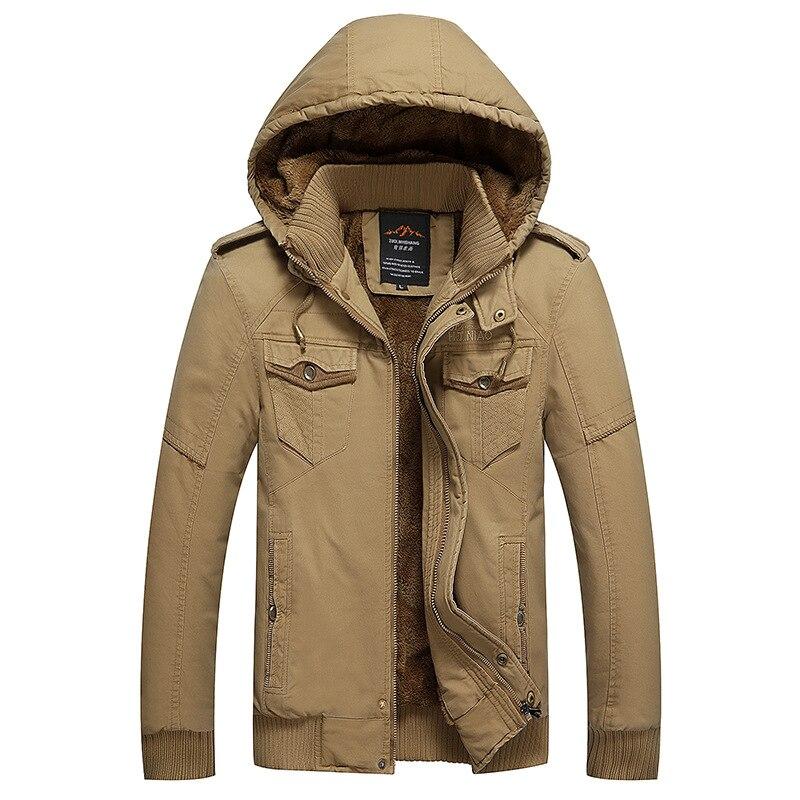 High Quality men s Fleece Jacket Coat Winter Fashion Plus Size Thicken Hood Casual Jacket Coat