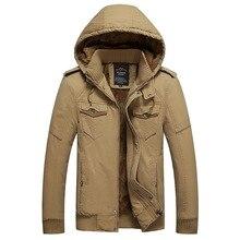 Высокое Качество мужская Куртка Пальто Зимняя Мода Плюс Размер сгустите Капюшоном Случайный Пиджак Пальто Для Мужчин Тянуть Homme L ~ 4XL D20F8936