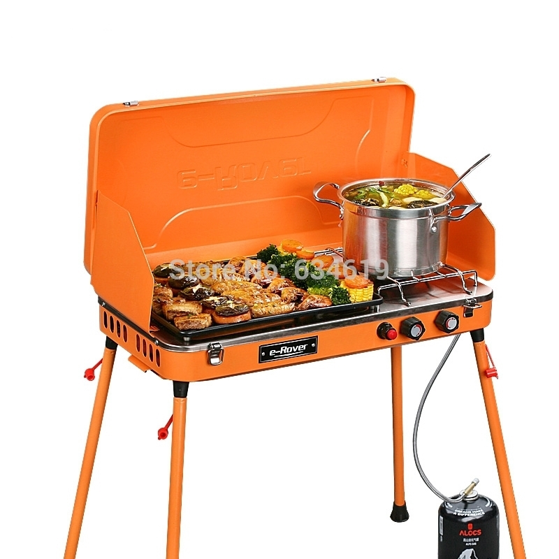 2015 new hot outdoor gas portable grill first class quality camping folding bbq barbecue grill. Black Bedroom Furniture Sets. Home Design Ideas