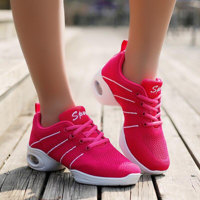 Nueva Modern Zapatillas de baile mujer fitness respirable maestros Latino Jazz  hip hop Zapatos bailarín sneakers plataforma niñas baile Zapatos en ... 5f5fe9298fd