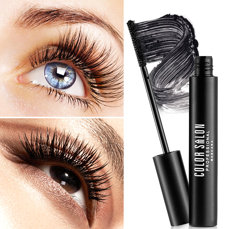 Color Salon Super Volume Fyeliner Mascara Dense Long Curing&lengthening Lasting Waterproof 3D Long-Curling Mascara 8g