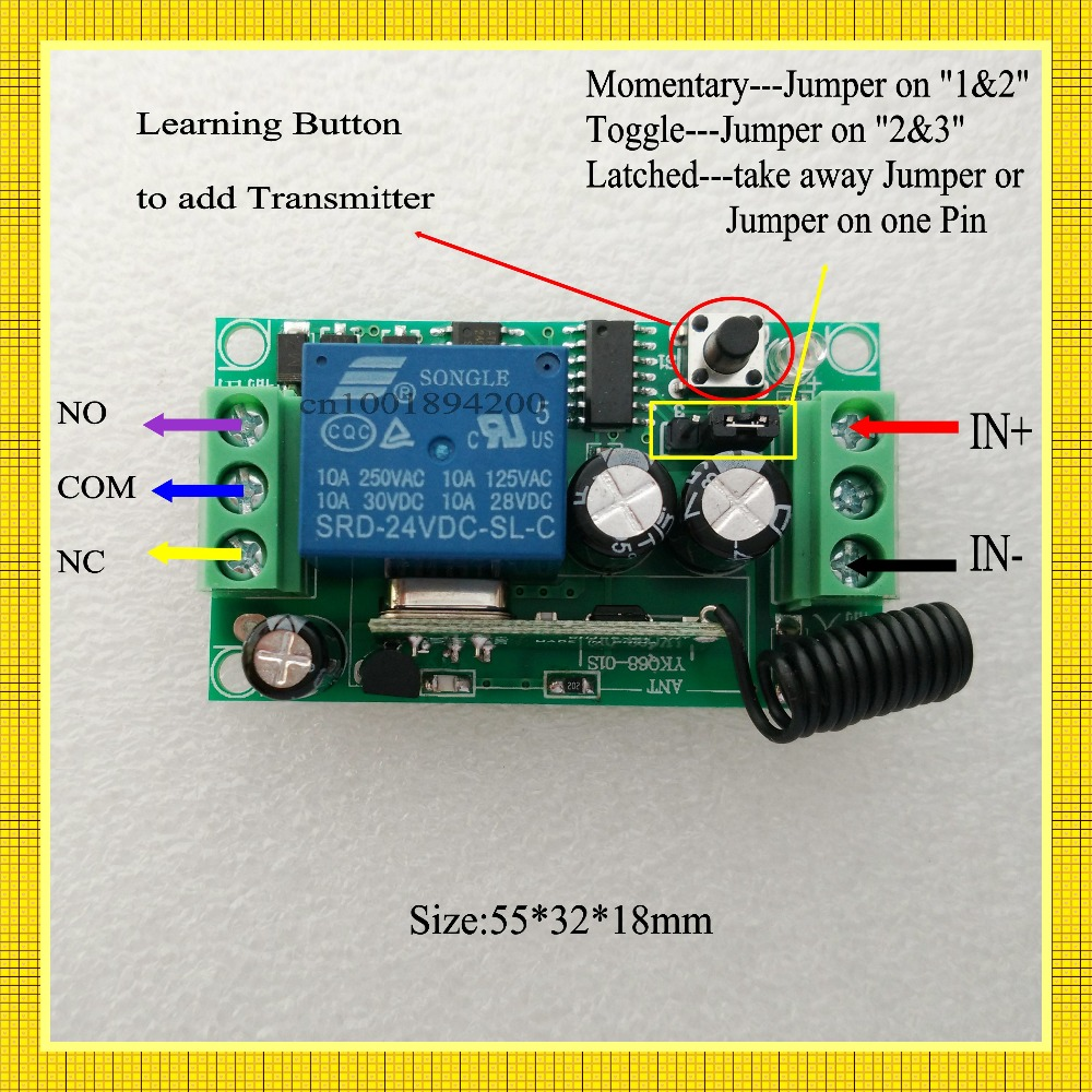 Button Slippers Picture More Detailed Picture About DC V CH - Relay com no nc