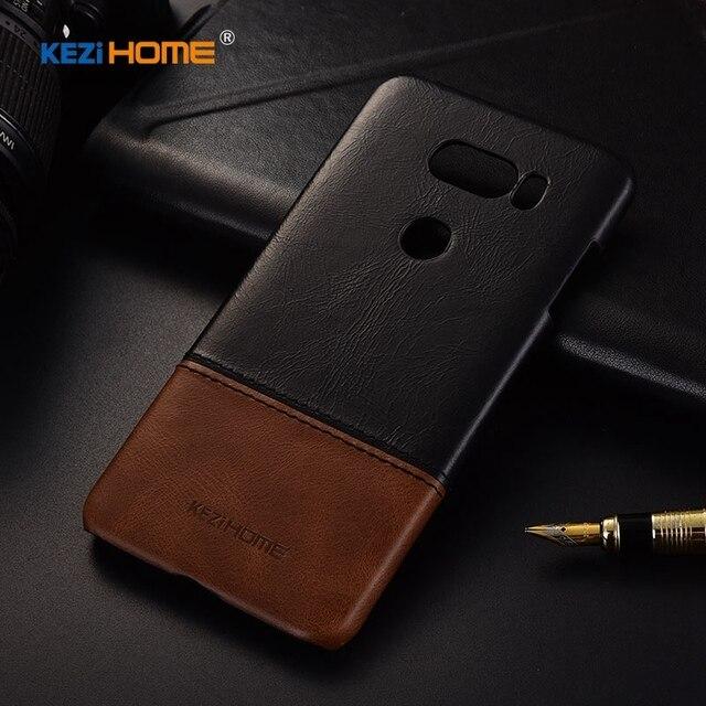 Business Style Genuine Real Leather Hard Back Cover Case for LG V20 V30  Plus Shockproof Coque V40