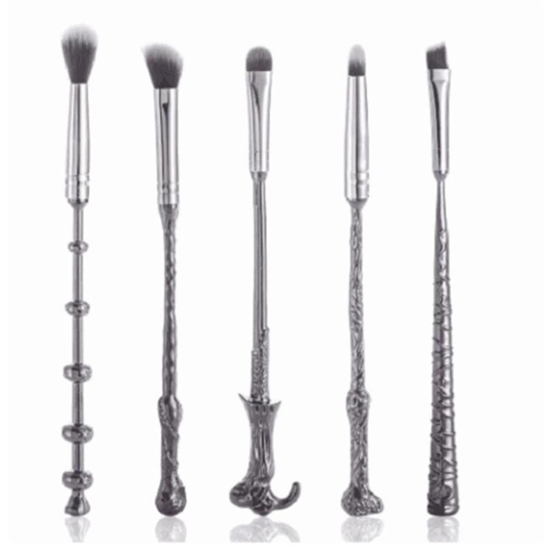 Hot Sale 5pcs Harry Potter Wand Makeup Brushes Set Mug Wizard Storybook Mugs Make Up Brush
