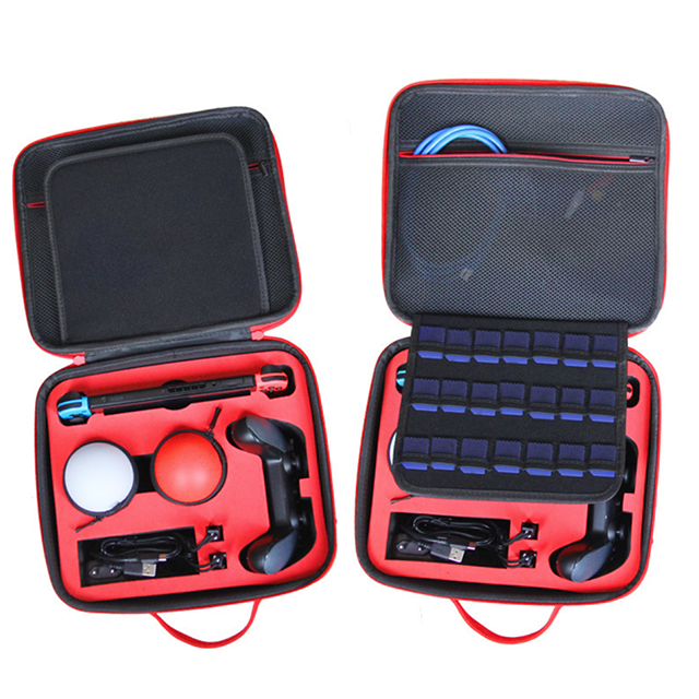 Image 2 - new product storage Bag for Switch poke ball protective case for Nintendo Switch controller red color-in Replacement Parts & Accessories from Consumer Electronics
