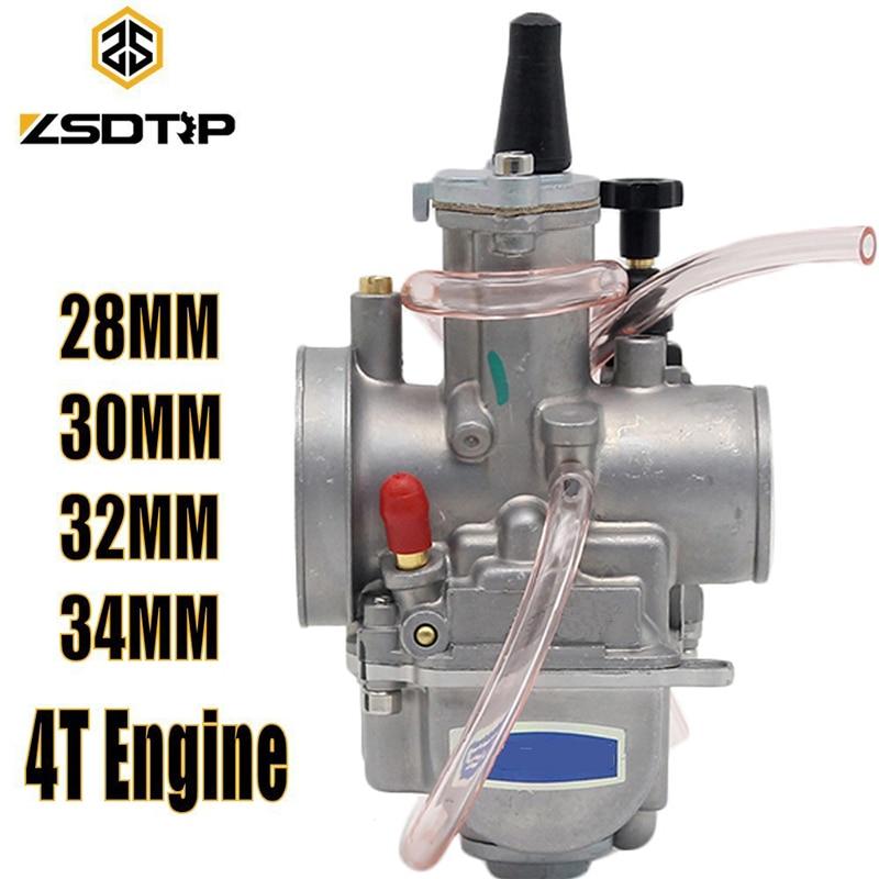 Carburateur de carburateur de moteur de moto 4 T de ZSDTRP 28 30 32 34mm avec le Jet de puissance pour le moteur de course de Honda Yamaha