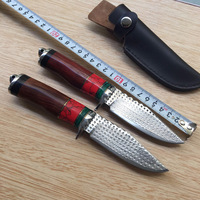 Damascus steel army Survival knife high hardness wilderness knive essential self defense Camping Knife Hunting outdoor tools EDC