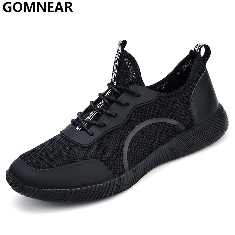 GOMNEAR Men's Sport Running Shoes Big Size Outdoor Breathable Comfortable Athletic Sneakers Lightweight Jogging Tourism For Man 2017brand sport mesh men running shoes athletic sneakers air breath increased within zapatillas deportivas trainers couple shoes
