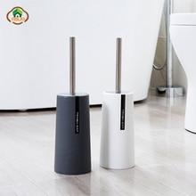 MSJO Toilet Brush Cleaner Set Bathroom Accessories Stainless Steel Bathroom Black Hardware Means Cleaning Toilet Tool Holder Set недорого