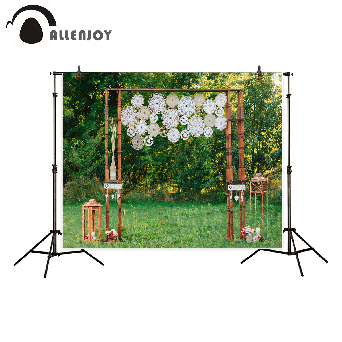 Allenjoy professional photography background Romantic Valentine's Day wedding decorated spring backdrop photo studio photocall allenjoy photography backdrop library books student child newborn photo studio photocall background original design