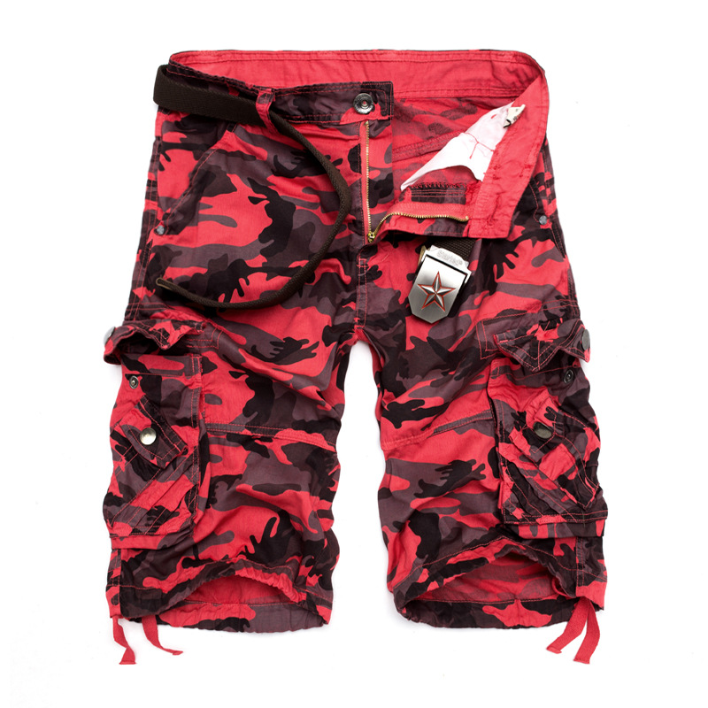 2019 New Camouflage Loose Cargo Shorts Men Cool Summer Military Camo Short Pants Homme Tactical Cargo Shorts Drop Shipping