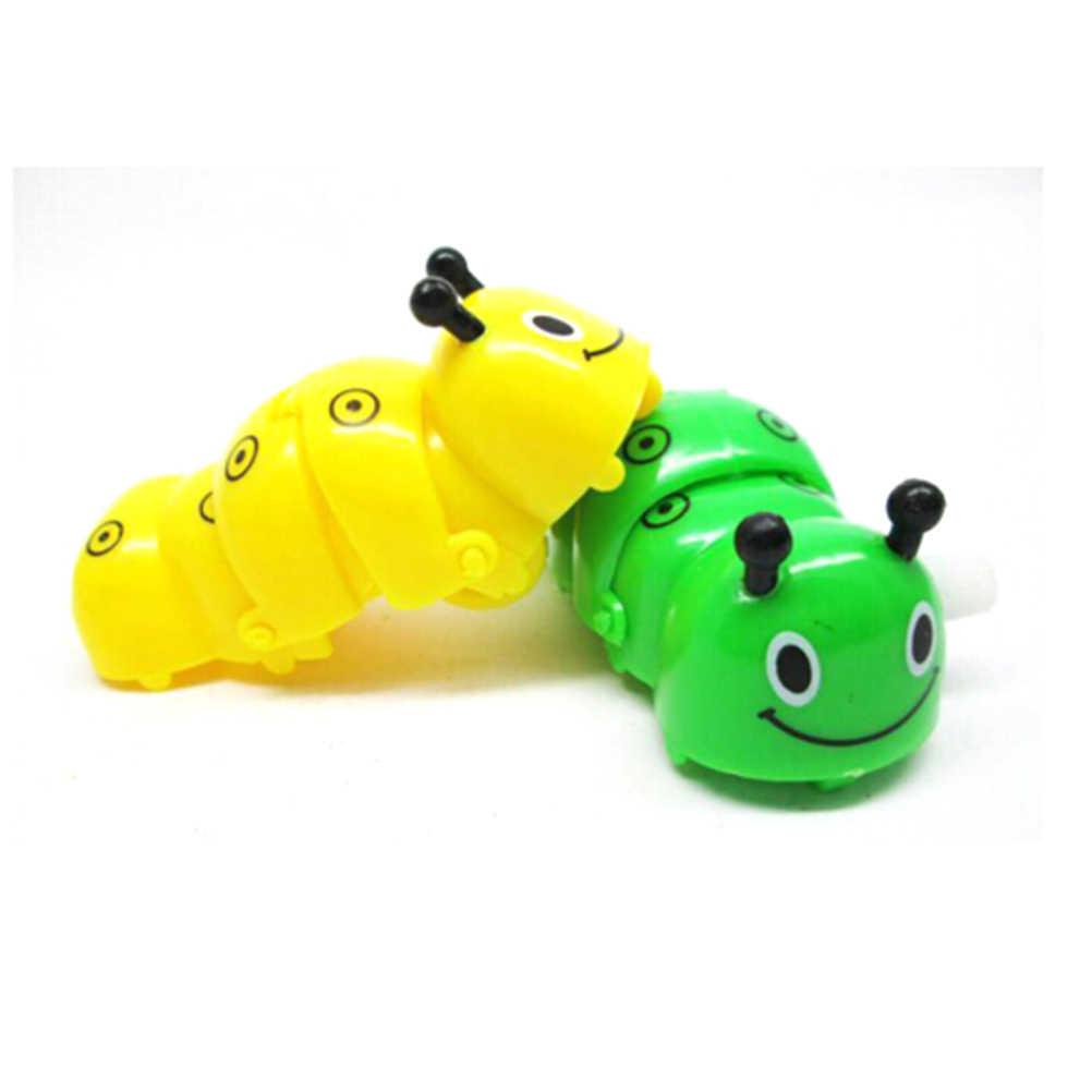 ¡NOVEDAD DE 2017! juguete de primavera para niños de alta calidad, juguete de plástico verde con dibujo de insectos que gatean