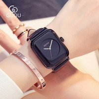 relogio feminino Luxury Brand Women Watches Square dial Casual Quartz Watch Genuine Leather Strap ladies Sports Watches reloj Women Quartz Watches