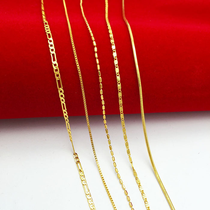 new Hot sale plated Gold chain necklace for baby child supers