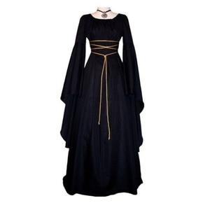 Платье женское длинное в пол, в средневековом стиле