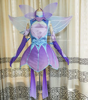 The Game LOL LUX Mysterious Cosplay Costume Uniform Purple Highly Reductive Characters