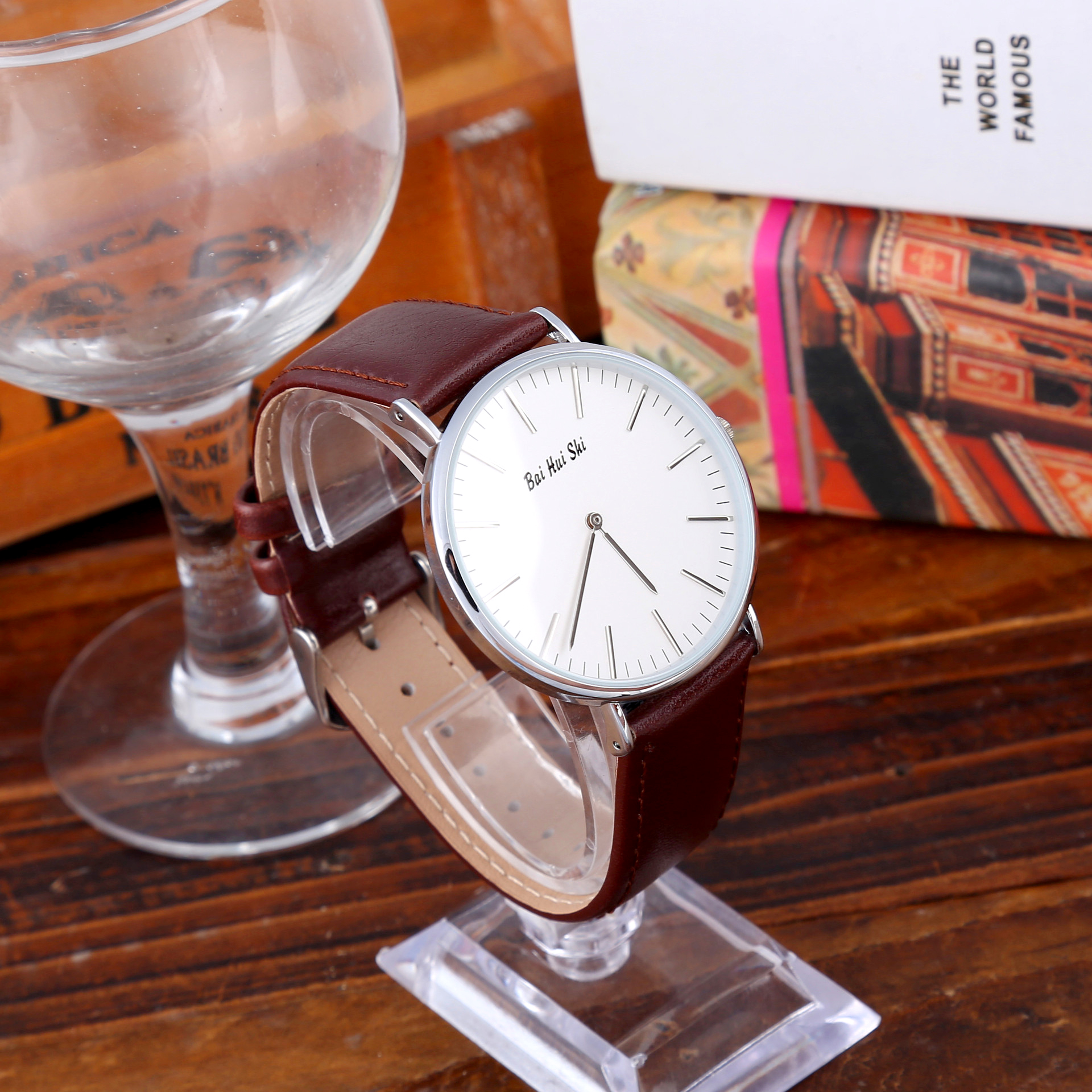 2019 New Hot Selling Couple Watch Simple Black Waterproof Quartz Watch For Lover