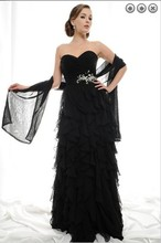 free shipping new design 2014 maxi off the shoulder dress formal evening plus size vestidos formales long black dresses