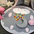 Diâmetro 150 cm Padrão Dos Desenhos Animados Tapetes de Jogo Do Bebê Para Crianças Em Desenvolvimento Tapete Engatinhando Tapete Saco de Armazenamento de Brinquedos Presente Para As Crianças