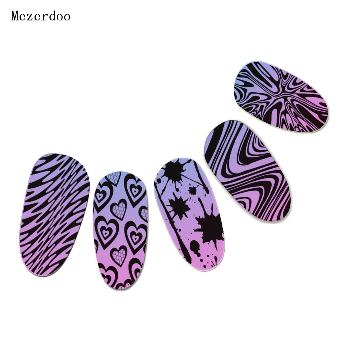 Zebra Pattern Nail Art Templates Classical Wave Leopard Stripe Bloody  Designs Stamp Polish Stainless DLY Nail Stamping Plates B4