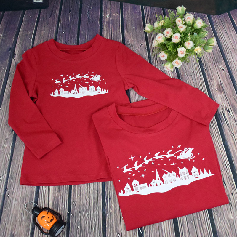 Matching Christmas Family Pajamas New Year Family Look Mother Father Baby  Pyjama Set Sleepwear Pjs Xmas Sled Adult Kids Clothes-in Matching Family  Outfits ... ec53059bc