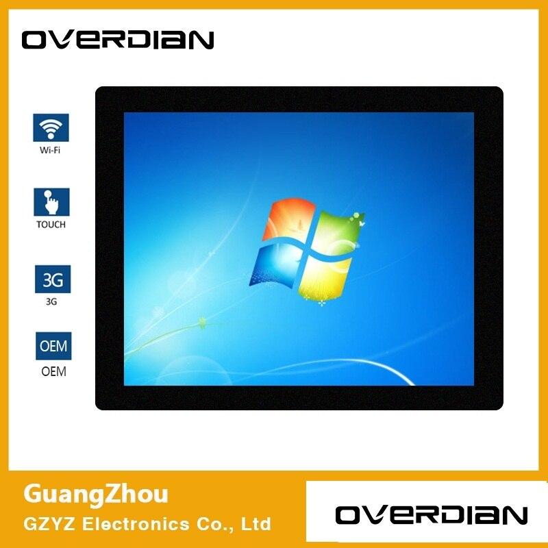 17 Win7 système ordinateur industriel ménage ordinateur intégré résistance ordinateur avion 4:3 écran simple tactile 1280*1024