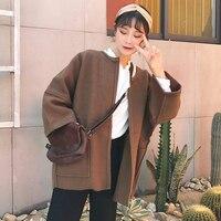 Autumn And Winter Women S New Korean Version Of The Wild Loose Jacket Woolen Coat Was